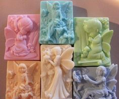 5 ANGELS- SHEA BUTTER, COCOA BUTTER, GOAT'S MILK, AND HONEY SOAP.
