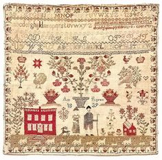 The original sampler stitched by Ann Rayner of West Yorkshire, England. in 1839.