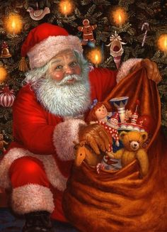 US Shipper Vintage Inspired Christmas Santa Clause Diamond Painting Art Kit. by OurCraftAddictions Merry Christmas, Christmas Scenes, Father Christmas, Christmas Pictures, Christmas Colors, Vintage Christmas, Xmas Photos, Black Santa, Santa Pictures