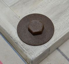 How to Make New Hardware Look Old and Rusty - use Rustoleum brown texture paint... that simple!