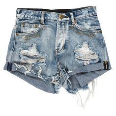 ་1969 HAWK SHORTS ($37) ❤ liked on Polyvore featuring shorts, bottoms, pants, short and short shorts