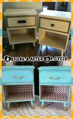 Upcycled nightstands ♡ before & after