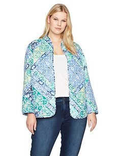 """Product review for Alfred Dunner Women's Plus Size Scroll Patch Quilt Jacket.  - This lightweight quilted jacket is reversible with a beautiful pattern on both sides. Enjoy the look of 2 jackets in one       Famous Words of Inspiration...""""What we think, we become. All that we are arises with our thoughts. With our thoughts, we make the..."""