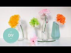 Bloemen knutselen – 30+ Leuke ideeën om bloemen te maken   Lady Lemonade Flower Power, Origami, Diy And Crafts, Glass Vase, Make It Yourself, Creative, Blog, Kids, Undercover