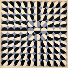 """""""Composition"""" by Czech artist Milan Dobeš, whose work is a kind of synthesis of the styles and techniques of Bridgette Riley and Victor Vasarely."""