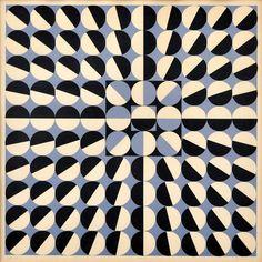 Milan Dobeš - Geometrická kompozícia (1967) Farebná serigrafia na papieri (15/60), 42x42cm