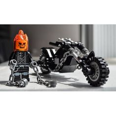 Ghost Rider Johnny Blaze Marvel Superhero Custom LEGO by Qunotoys Ghost Rider, Train Lego, Lego Trains, Lego Design, Lego Batman, Lego Marvel, Superhero, Legos, Lego Machines