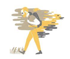 A pie, ilustración de Marquitos Farina #Editorial #Illustration