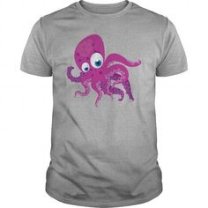 This is an awesome to wear for your family and friend who love animal:  Pink octopus cartoon  Tee Shirts T-Shirts