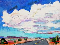 """Daily+Paintworks+-+""""Road+Trip""""+-+Original+Fine+Art+for+Sale+-+©+Cindy+Carrillo"""