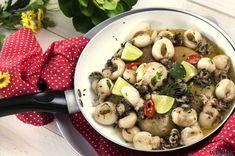 Receita de Chocos na frigideira com molho de alho e ervas. Descubra como cozinhar Chocos na frigideira com molho de alho e ervas de maneira prática e deliciosa com a Teleculinária!