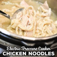Are you looking for a great Instant Pot recipe for Chicken Noodles? Our Electric Pressure Cooker Chicken Noodles Recipe is so easy to throw together and has that old fashioned comfort food flavor ready in minutes! Note: We use referral links to products we love. Cris here. Noodle-palooza is going on around here lately. It...Read More » Chicken Noodles, Chicken Noodle Recipes, Ip Chicken, Chicken Tenders, Egg Noodles, Recipe Chicken, Chicken Pasta, Chicken Casserole, Instant Pressure Cooker