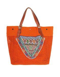 Elliot Mann Jo Bag Orange Hand-knotted shopper tote