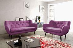 Salon Cuir SATIS Clio Convertible Cuir Blanc Salon Salle à - Canape prune cuir