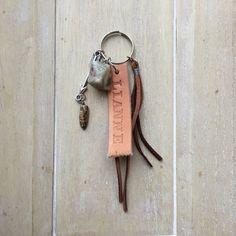 Boho style keychain, bag charm, bag decoration, personalized