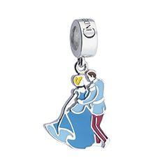 Pingente Cinderela e Príncipe em prata 925 esmaltada - Life by Vivara