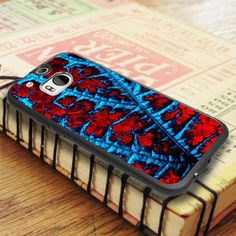 Red Blue Abstract Leaf HTC One M8 Case