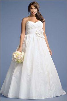 Plus Size Wedding Dresses Under 100 Flower On Waist Accent Sleeveless WeddingDresses - Dress Inspiration for Women