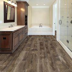 LifeProof Nashville Oak in. L Luxury Vinyl Plank Flooring sq. / - The Home Depot Bathroom Vinyl, Bathroom Flooring, Bathroom With Wood Floor, Bathroom Ideas, Kitchen Floors, Bathroom Faucets, Bathroom Interior, Master Bathroom, Luxury Vinyl Flooring