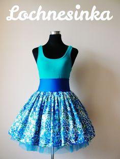 Kolová NESSIE malovaná M/L (délka 50 cm) / Zboží prodejce Lochnesinka Summer Dresses, Formal Dresses, Must Haves, Bloom, Dots, Handmade, Fashion, Gowns, Dresses For Formal
