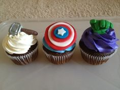 The Avengers Cupcakes By sweetsapphire on CakeCentral.com