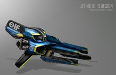 Jet Moto Redesign by IAN GALVIN, via Behance