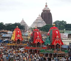 The Jagannath Temple in Puri is a famous, sacred Hindu temple dedicated to Jagannath and located on the eastern coast of India, at Puri in the state of Odisha. The name Jagannath comes from the word Jagat-Nath which means 'Lord of the Universe'. Jagannath Temple Puri, Lord Jagannath, Rath Yatra, Hindu Temple, God Pictures, Tourist Places, Gods And Goddesses, Pilgrimage, Incredible India