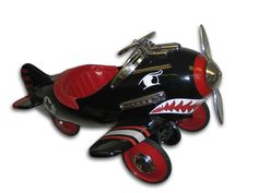 Black Shark Attack Pedal Plane Toy