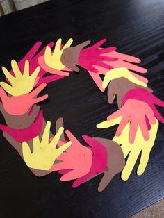 #fall hand #wreath #diy
