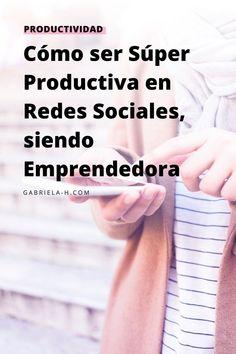 Si quieres aprender cómo ser productiva en redes sociales para tu negocio, este video es para ti. La Red, Marketing Digital, How To Earn Money, Productivity, Life Tips, Personal Development, Finance, Girly
