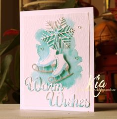 Sharing Warm Wishes with you, which is a card I did for the latest release by Frantic Stamper, which is called  Winter Wonderland . If I ...