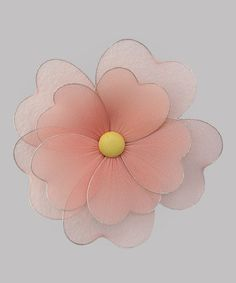 Take a look at this Peach Multilayer Hanging Flower on zulily today!