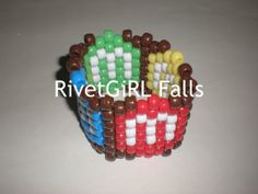 M&M's inspired Kandi bracelet cuff