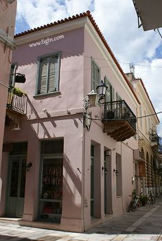 Andromeda Pension #Nafplio - #Peloponnese, #Greece Neoclassical, Sandy Beaches, Old Town, Greece, Hotels, Mansions, Outdoor Decor, Modern, Old City