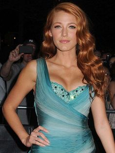 Blake Lively with red hair at the Time 100 Gala in 2011 | allure.com