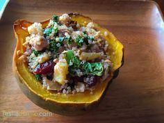 Quinoa Stuffed Acorn Squash #vegan #glutenfree