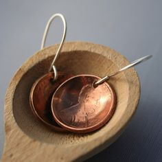 For your lucky charm: lucky penny earrings. $14.00.
