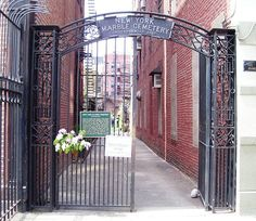 The New York Marble Cemetery, with its entrance at 41 Second Avenue between 2nd and 3rd Streets in the East Village neighborhood of Manhattan,
