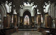 Le chœur vu depuis le jubé. L'église Sainte-Madeleine. Troyes. Marne. Champagne