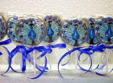 10 Chocolate Peacock lollipops  for weddings by candycottage, $20.00