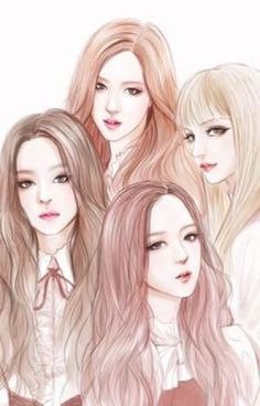 Jisso-BLACKPINK-Fanart I grouped the above questions about the pencil drawing that I received and tried to describe at length with … Kpop Girl Groups, Korean Girl Groups, Kpop Girls, K Pop, Best Friend Drawings, Kpop Drawings, Jennie Lisa, Black Pink Kpop, Fan Art