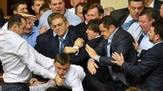As Ukraine's newly-elected parliament descends into mayhem on its first two days of operation, BBC Monitoring examines why fighting has become so common among its MPs.