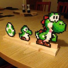 Yoshi perler beads by ollieboioz