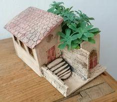 Haus Keramik Pflanzenhaus Gartenkeramik WohndekoGeschenk
