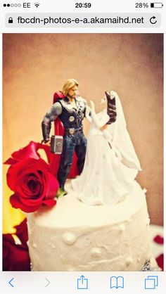Thor Rescued Bride Cake Topper Real Wedding Ideas