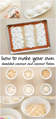 How to Make Coconut Flakes: Step-by-step instructions for homemade shredded and flaked coconut for your favorite desserts! Tutorial via @claragonzalez