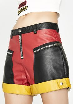 Would definitely pair these with a crop top! Free, fast shipping on Current Mood Tailgate Moto Shorts at Dolls Kill, an online boutique for punk & rock fashion. Shop Current Mood clothing, lace up leggings, & shoes here. Lace Up Leggings, Leggings Shoes, Current Mood Clothing, Adidas Workout Clothes, Moto Pants, Checkered Skirt, Punk Rock Fashion, Leather Shorts, Unique Outfits