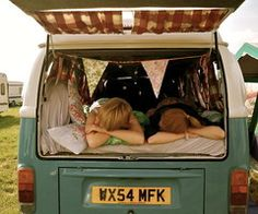 sleeping in a Kombi with the back open