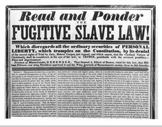 Fact of the day; On this day in 1852, the Fugitive Slave Law was passed in California. #UBMChicago #Freedom