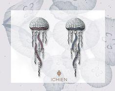 "https://www.facebook.com/ichien.jewellery Серьги ""Медуза"""